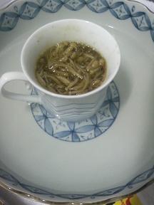 20100413-会社で料理-手作りナメタケの簡単スパゲティ-01-ナメタケを温める.jpeg
