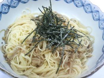 20100413-会社で料理-手作りナメタケの簡単スパゲティ-04-出来上がり.jpeg
