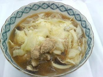 20110928-会社で料理-久しぶりに鶏つみれの汁ビーフン-05-出来上がり.jpeg