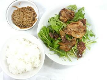 20130419-会社で料理-豚の生姜焼きと保存食の手作りナメタケ-04-出来上がり.jpeg