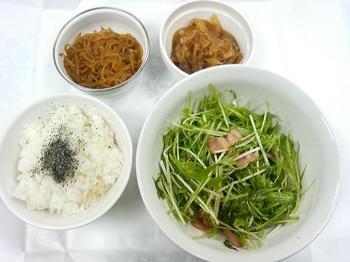 20130424-会社で料理-水菜のサラダがメインの昼食-08-出来上がり.jpeg