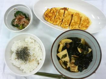 20130501-会社で料理-若竹煮と柚子こしょう味の玉子焼き-08-出来上がり.jpeg