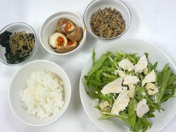 20130606-会社で料理-茹鶏の洋風サラダとナメタケ風、煮玉子はどうなったかな-05-出来上がり.jpeg